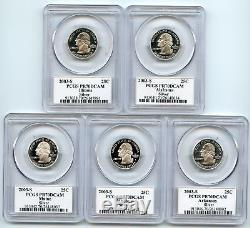2003 S Silver State Quarter Set PCGS PR70DCAM