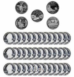 2003 S State Quarter Proof Roll Gem Deep Cameo 90% Silver 40 US Coins