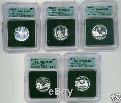 2003 Silver Statehood Qtr Set Icg Pr70dcam Intercept Sh