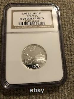 2004-06 Lot Of 6 Silver State Quarters Coins all NGC PF 70 Ultra Cameo (25C)