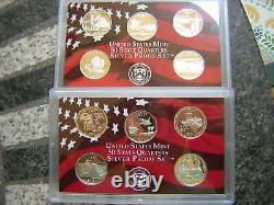 2004,2005,2006,2007 Silver Proof State Quarter Sets-20 different 90% proof Dcam