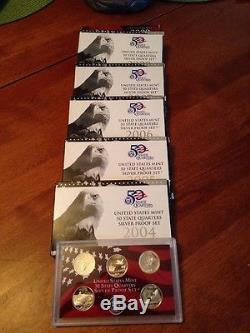 2004-2009 Silver Statehood Proof sets