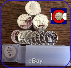 2004-S Silver Proof Michigan Quarters Roll (40 coins) - from proof sets