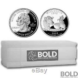 2004-S Silver Proof State Quarter Roll (40 Coins) WISCONSIN