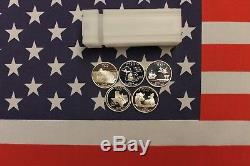 2004 S Silver State Quarter Proof Roll Mixed 5 Different Deep Mirror Cameo