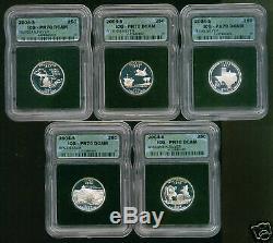 2004 Silver Statehood Qtr Set Icg Pr70dcam Intercept Sh