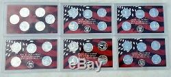 2004 thru 2009 S Proof State Quarter 90% Silver 31 Coin Statehood Lot-Free Ship