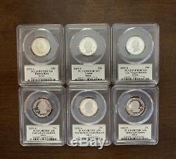 2005, 2007, 2008, 2009 S Silver State Quarter Set PCGS PR70DCAM