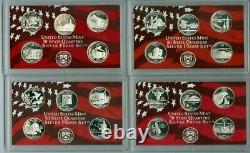 2005-2008 US MINT 50 STATE QUARTERS SILVER PROOF SET WithCOA