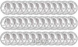 2005-S California Silver Proof Quarter roll 40 GEM coins tube $10 Face Value
