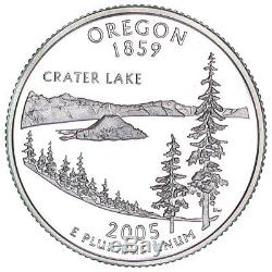2005-S Oregon Silver Proof Quarter roll 40 GEM coins tube $10 Face Value