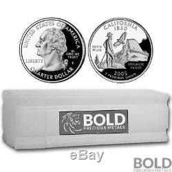 2005-S Silver Proof State Quarter Roll (40 Coins) CALIFORNIA
