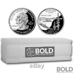 2005-S Silver Proof State Quarter Roll (40 Coins) OREGON