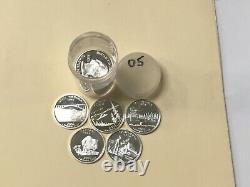 2005 S Silver Quarter Assorted Roll (40) Gem Proof Quarters From Mint Sets