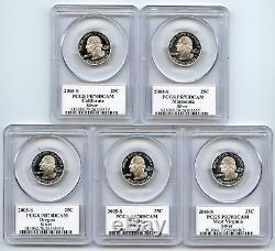 2005 S Silver State Quarter Set PCGS PR70DCAM