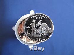 2005-S Silver Statehood Quarter Proof Roll Set