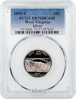 2005-S Silver West Virginia State Quarter PCGS PR70DCAM