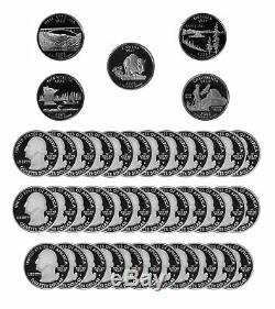 2005 S State Quarter Proof Roll Gem Deep Cameo 90% Silver 40 US Coins