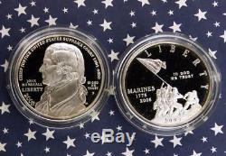 2005 US Mint American Legacy Prestige Set, State Quarters, Silver Marine Dollar