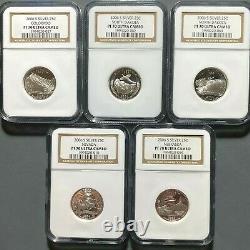2006-S 25C SILVER Quarter set (5 Coins) NGC PF70 ULTRA CAM(62635)