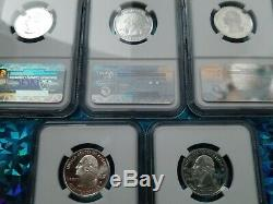 2006 S Complete 5 Coin Silver Proof Quarter Set NGC PF70 UCAM