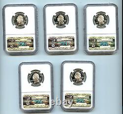 2006 S Silver 5 State Quarter Set NGC PF70 UCAM Proof Coin 25 C Flag
