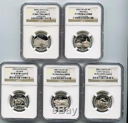 2006 S Silver State Quarter 5 Coin Proof Set NGC PF 70 Ultra Cameo 25C SQS006