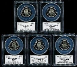 2006 S Silver State Quarter 5 Coin Proof Set PCGS PR70 DCAM 25C PR70DCAM