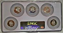 2006 S Silver State Quarter 5 Coin Set Ngc Pf 70 Ultra Cameo. Multi-coin Holder