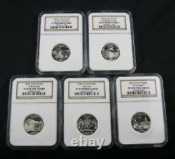 2006 S Silver State Quarter Proof Complete 5 Coin Set Ngc Pf 70