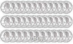 2006-S South Dakota Silver Proof Quarter roll 40 GEM coins $10 Face Value SD