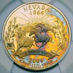 2006-S Washington Quarter Nevada SILVER 2-Sided Toning PCGS PR 65 DCAM (DR)