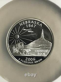 2006-s Ngc Pf 70 Ultra Cameo Silver State Quarters Set (bright Coins/no Toning)