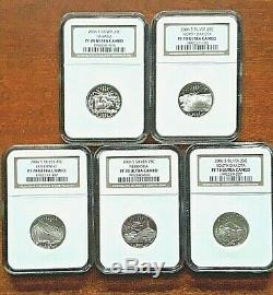 2006-s Silver State Quarters 5 Coin Year Set Ngc Graded 70 Proof Uc