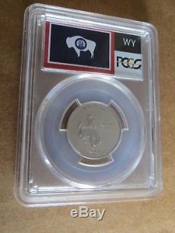 2007-S 25c Wyoming CLAD State Flag Label Quarter Proof PCGS PR70DCAM Clad