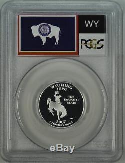 2007-S PCGS PR70DCAM Wyoming SILVER Statehood Quarter