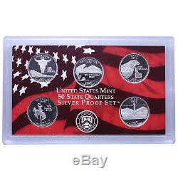 2007 S Proof State Quarter Set 10 Pack 90% Silver Original Boxes & COAs 50 Coins