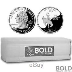 2007-S Silver Proof State Quarter Roll (40 Coins) WYOMING