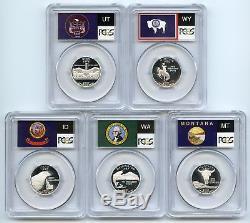 2007 S Silver State Quarter Set PCGS PR70DCAM