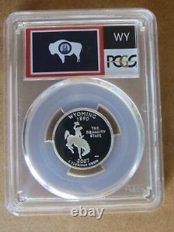 2007-S Wyoming SILVER State Flag Label Quarter Proof PCGS PR70DCAM Deep Cameo 25