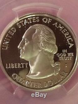2007-s Wyoming State Silver Quarter-pcgs Pr70dcam-frosted Cameo Proof-flag Label