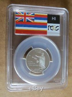 2008-S 25c Hawaii SILVER State Flag Label Quarter Proof PCGS PR70DCAM