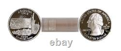 2008-S Arizona Silver Proof Statehood Quarters 40 Coin Roll