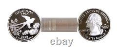 2008-S Oklahoma Silver Proof Statehood Quarters 40 Coin Roll