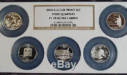 2008-S Proof Silver State 25¢ Set NGC PF70 (RARE Multi-Coin Holder)