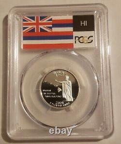 2008 S Silver Flag Hawaii State Quarter PCGS PR70DCAM