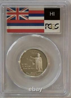 2008 S Silver Hawaii State Quarter Pcgs Proof Pr70 Flag Label