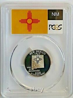 2008-S Silver Proof State Quarter Set PCGS PR70 DCAM-State Flag Label