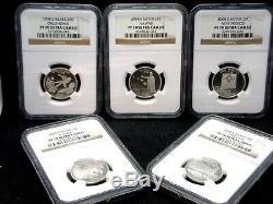2008 S Silver Quarter Proof Set NGC PF70 Ultra Cameo Hawaii (5 Coin) ECC&C