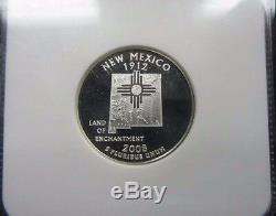 2008 S Silver Quarter Proof Set NGC PF 70 Ultra Cameo 5 coin set Popular Hawaii